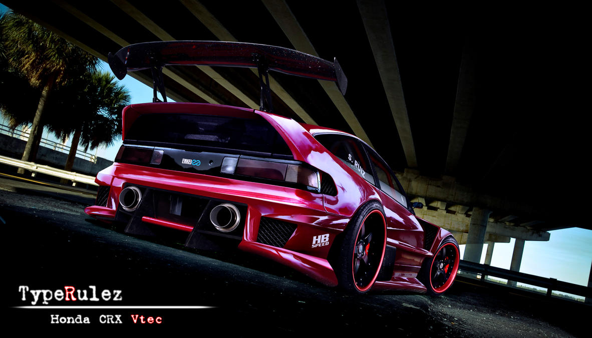 honda crx vtec by typerulez on deviantart. Black Bedroom Furniture Sets. Home Design Ideas