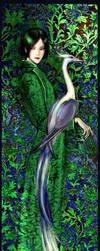 D with a bird by Folda