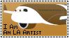 I Am An Living Aircraft Artist Stamp by EchoAllient