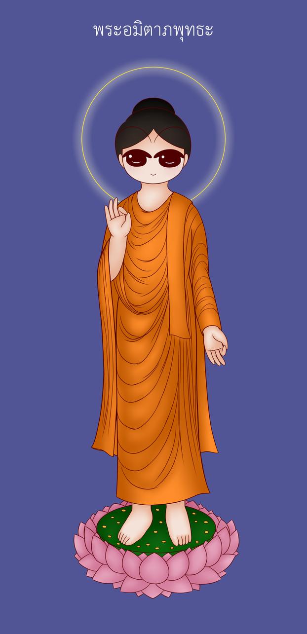 The Three Sages of Western: Amitabha by Yuen-Ji