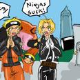 Edward vs Naruto by Kirika-chan