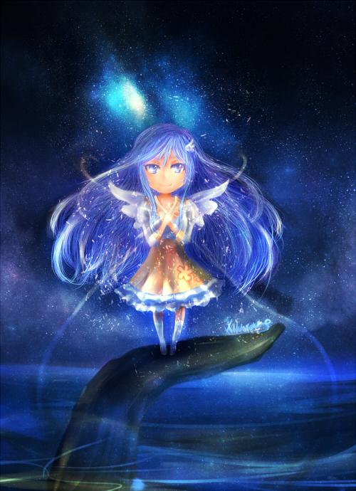 luna starry skies by xilveroxas
