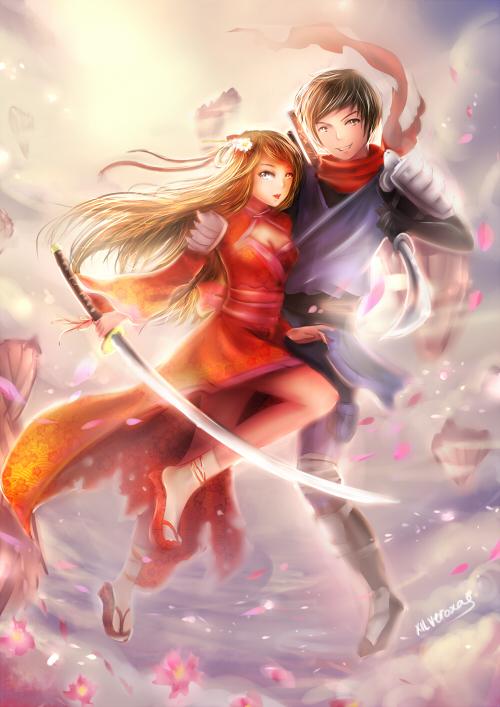 commission : ninja couple by xilveroxas