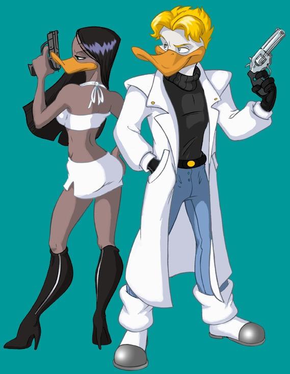 Gun-totin' Zakiya and Darrell by animator