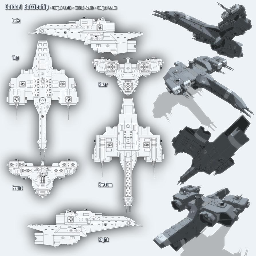 Caldari Battleship by Spinner-Vision