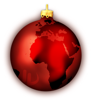 Global Christmas Tree Ornament by theIwitcher
