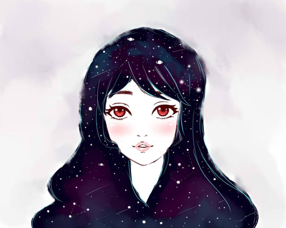 نتیجه تصویری برای girl galaxy deviantart