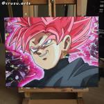 Goku Black Super Saiyan Rose Painting