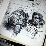 Astronaut doodles