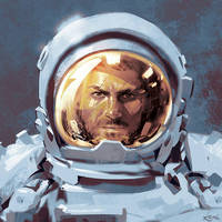 Astronaut color sketch by Koveck