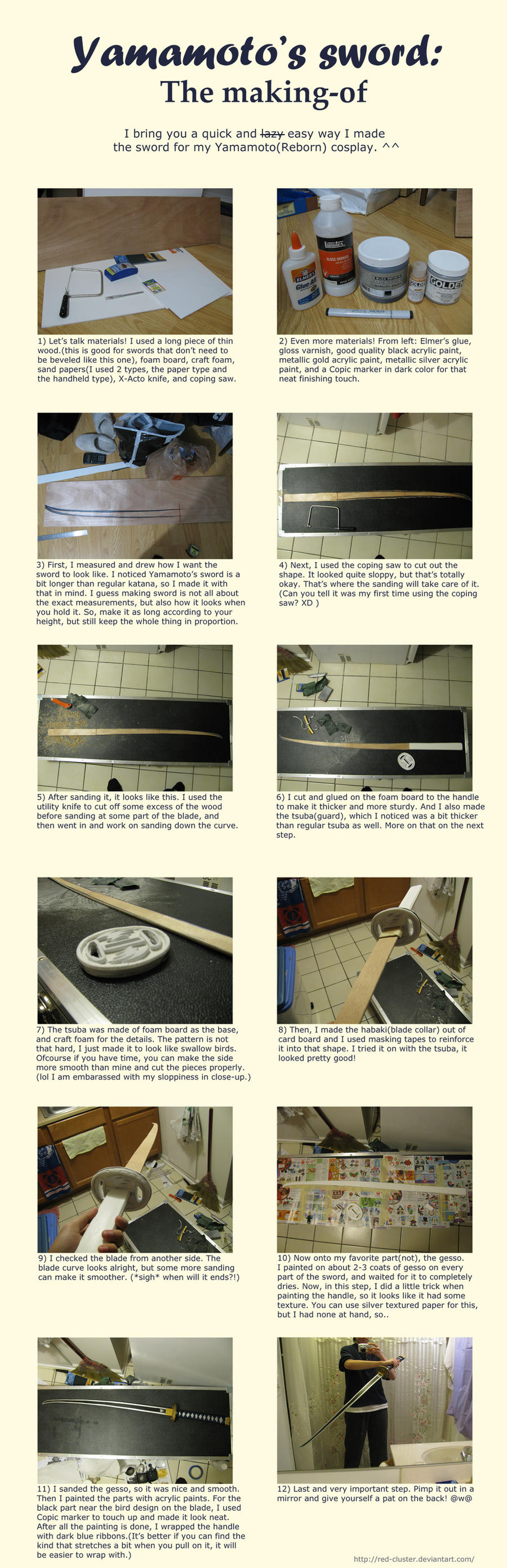 Yamamoto's Sword Tutorial by red-cluster