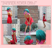Summer Never Ends -  charity auction wig