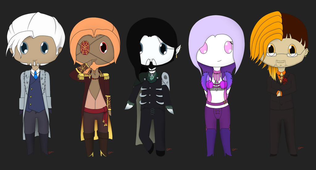 Chibi's for Dane by lastsorceress