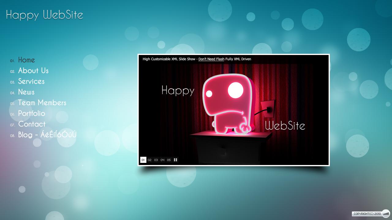 Happy XML WebSite Template by DFLPortfolio on DeviantArt