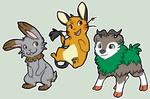 Bunny, Gerbil, Goat