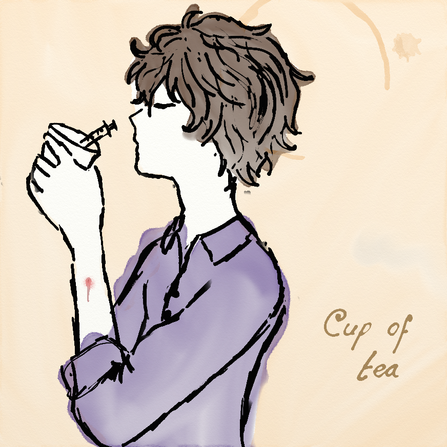 Cup of tea~Sherlock by YandereKirklandChan