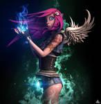 Sweet Cyberpunk Fairy by mherrador