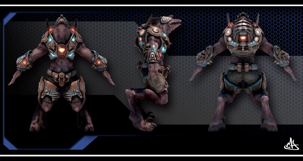 Teiidae Warrior by mherrador