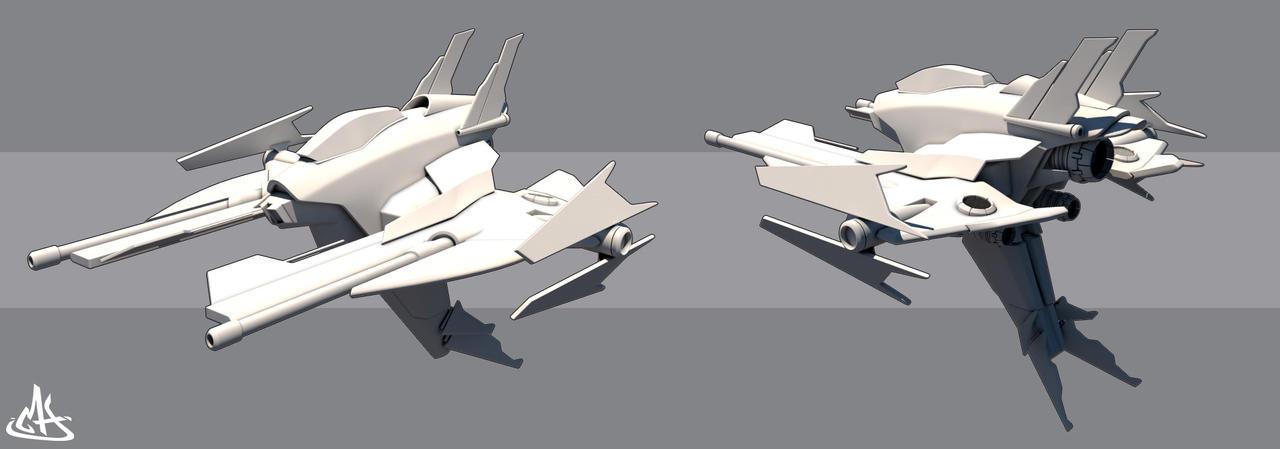 Spaceship WIP by mherrador