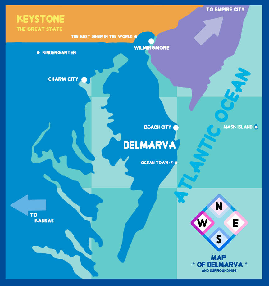 Steven Universe Map Of Delmarva By Elledy92 On Deviantart