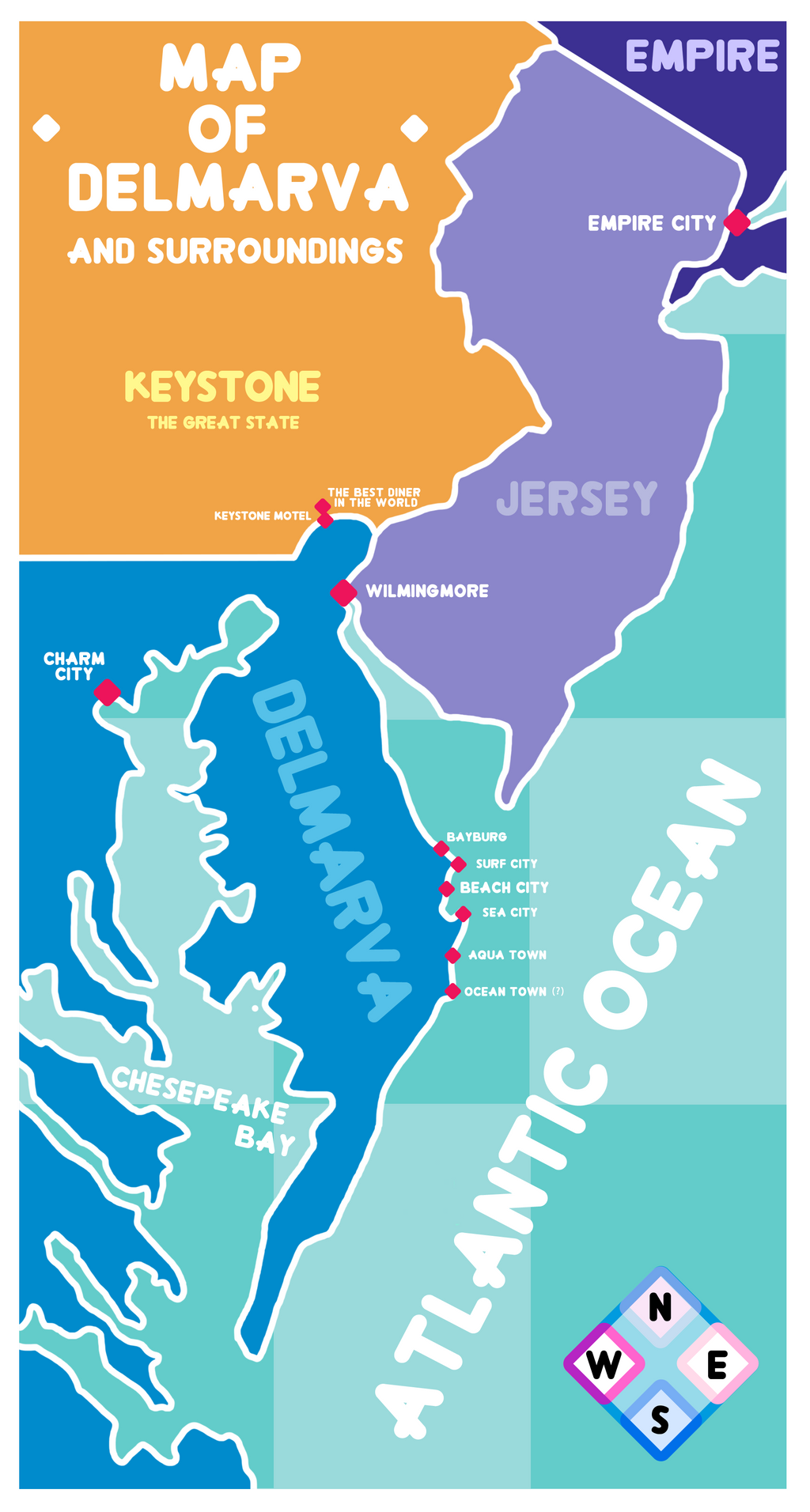 steven universe new map of delmarva by elledy92 on deviantart