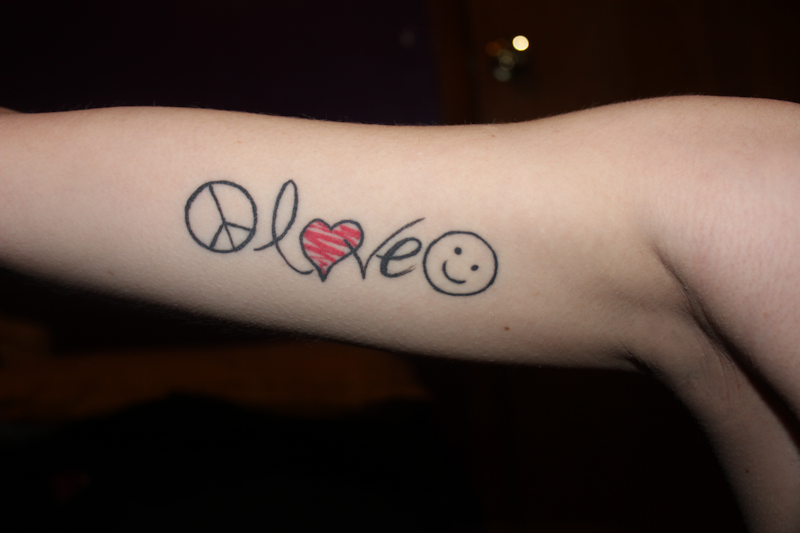 Peace love happiness by kathleenclark on deviantart for Peace love happiness tattoo