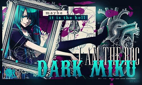 Dark Miku by SpicAsh