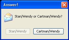 StanWendy or CartmanWendy? by NickelParkLavigne
