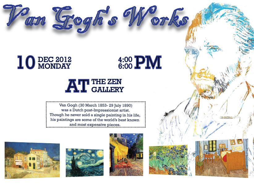 Artist poster - Vincent Van Gogh exhibition by varzilla on DeviantArt