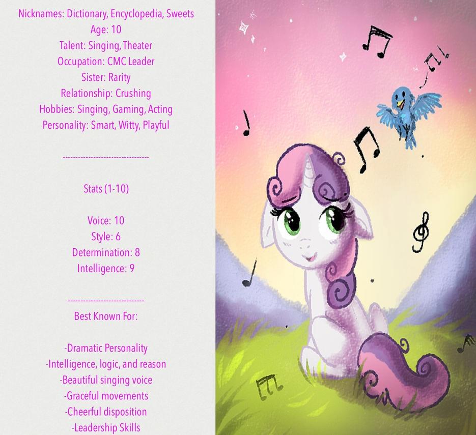 Sweetie Belle info sheet! by Best-Party-Pony
