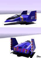 Blue Falcon Fzero 3ds max