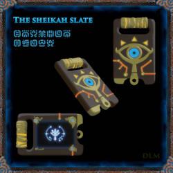 Sheikah slate 3d Modeling