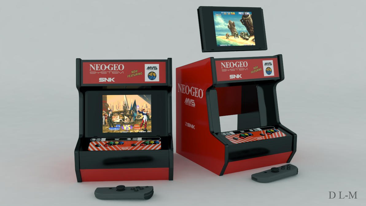 Arcade stand model for Nintendo Switch (printable) by emanon01
