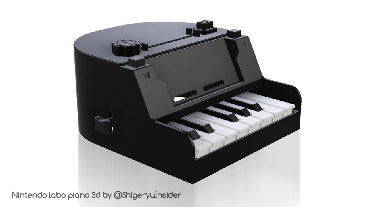 Nintendo labo piano in 3d by emanon01