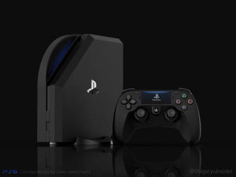PS5 Fanmade design black by emanon01
