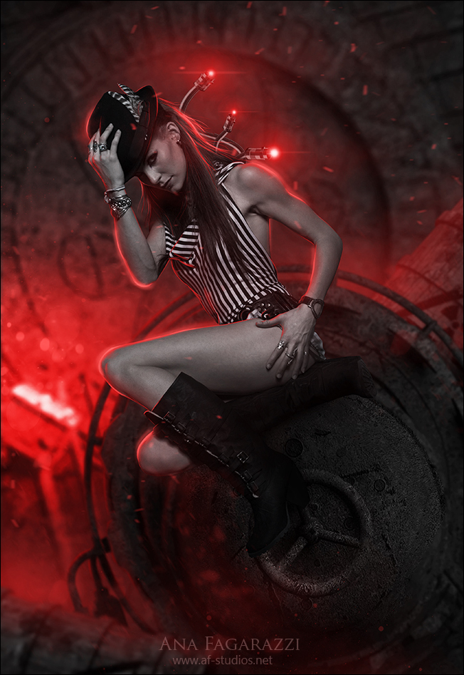 steampunk lady by AF-studios