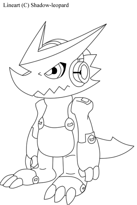 new digimon coloring pages - photo#48