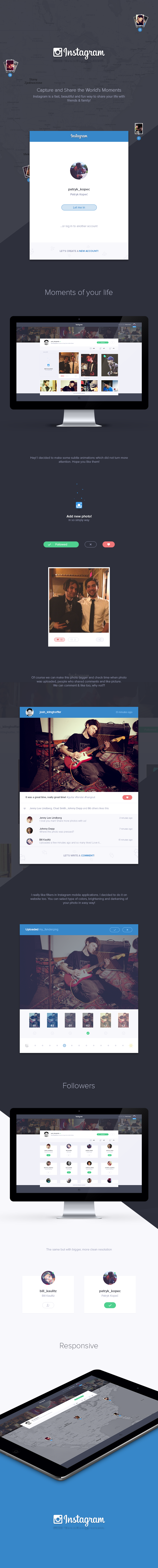 Instagram - web redesign by encore13