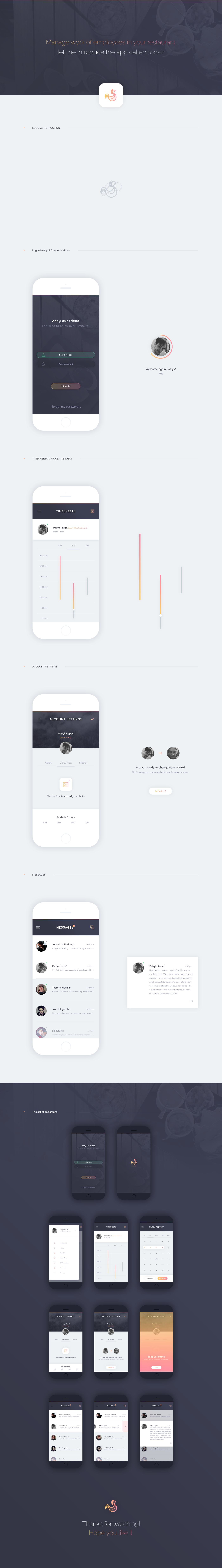 Roostr - Mobile App by encore13