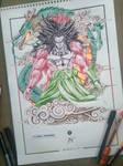 Broly SSJ4 Pen-Sketch by LordSushantoo