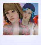 Max and Chloe Selfie (inspired by KR0NPR1NZ art)