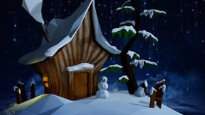 Winter illustration by Rutena