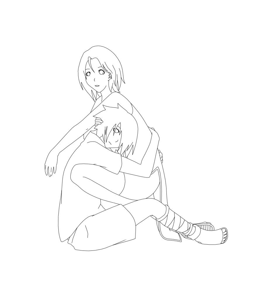 hug lineart by maboroshii