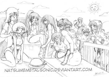 Baby diapers party Scene 01 by Natsumemetalsonic