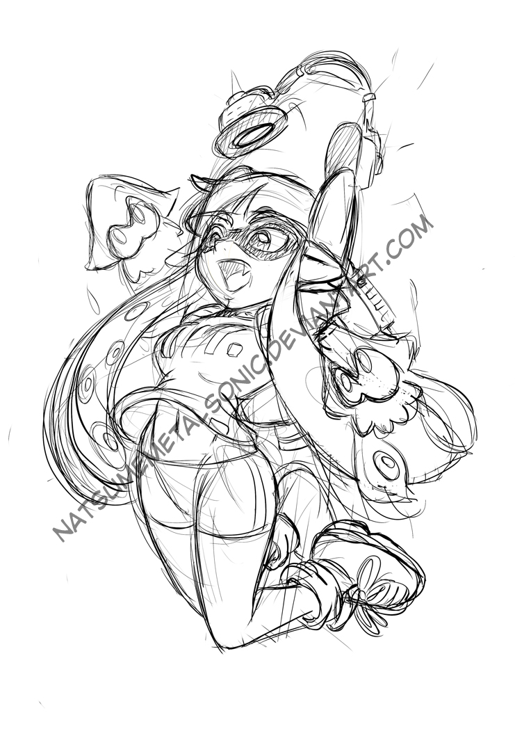 Splatoon squid sisters sheets coloring pages for Splatoon coloring pages