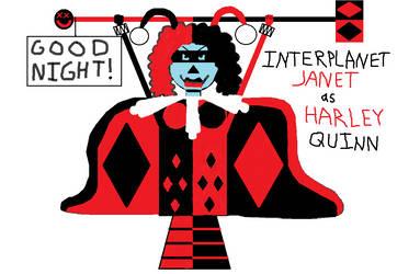 Interplanet Janet as Harley Quinn by ClownBinky
