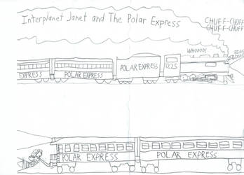 Interplanet Janet and the Polar Express by ClownBinky