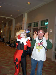 Me with a Harley Quinn Cosplayer at Shuto Con 2017 by ClownBinky
