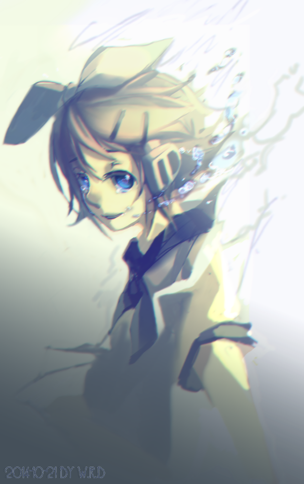 kagamine rinto in water by WhiteRiceBear