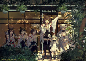 Collection cat ears Cafe